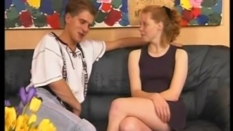 Youthful German Blonde Gives head, Fucks and Swallows