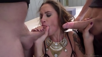 Elegant great stupid ass milf gets double infiltrate from the group