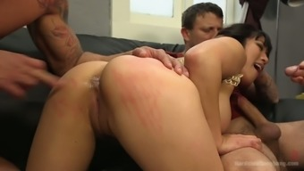 Fucking hot Oriental harlot Mia Li is going on a role in true hard-core gangbang