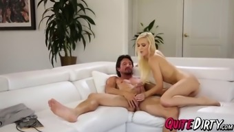 Tight pussy blond Alex Off white popped challenging by Tommy Gunn