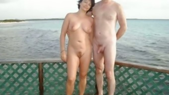 Sexy beginner exhibitionist spouses compilation at the coast