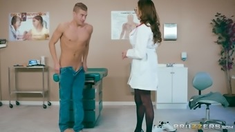 Ariella Ferrera is a great breasted doctor who might adores cycling a cock
