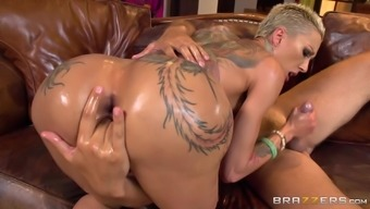 Oiling the astonishing needled on overwhelming Attractive bella Bellz makes her ideal