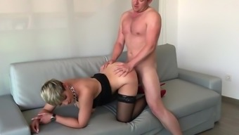 Lovely female turned out to be fucked in the stupid ass