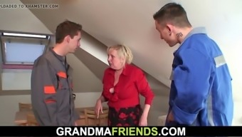 granny will provide her old pussy