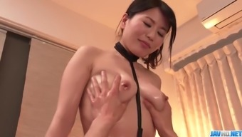 Massage session finishes along with hard intercourse for tight Nana Nakamura