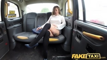 counterfeited taxi spanish woman with great attractive entire body and fine titties