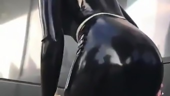 Sexy Hijab woman - Muslim - Hijabi - Latex