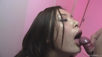 Asian hottie Rika Nanami finally gets to play with a hard dick