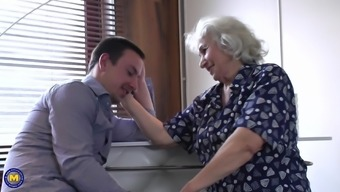 Grandma Maria loves young studs and getting fucked from behind