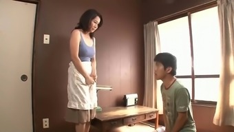 Asian milf cant resist stepson
