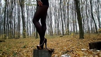 Stand tall in high heels and fall (dangerous)