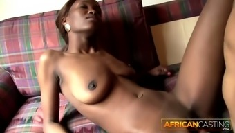 Big white cock is too much for african cutie