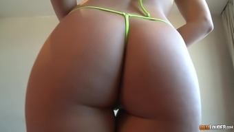 Blonde MILF babe has a big ass and mouth filled with cum