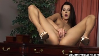 Cute Striptease And Solo By Cindy Hope