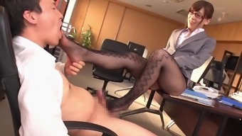 Milf Kaho Kasumi having her pussy break into at work