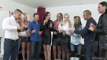 Orgy with Simony Ring and other cock-famished attractive girls