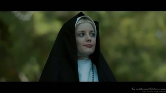 Sinful red haired nun Dollars Pax is for that reason into thrashing stormy pussy open air
