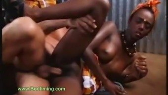 West african Teenager Utilizing His Shaft