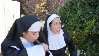 Wonderful lesbian pussy ingesting utilizing a strong nun Katie holmes- cruise Morgan
