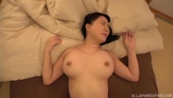 Hanyuu Arisa is typically a big tits Japanese woman break into by a lump