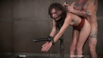 Busy submissive collars Alex More gets seriously mouthfucked by stud poker
