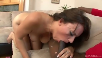 Awesome good shaped hottie Kayla Western lures nerdy black stud for hot greyhound dog