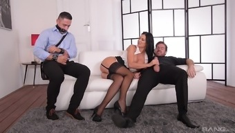 taped fella watching jasmine jae getting tongued and penetrated