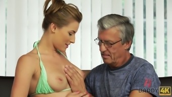 Appealing busty 2-piece swimsuit girl Victoria wins robust old angle for steamy fuck