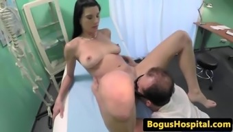 Great tit newbie pussy fucked by her health professional