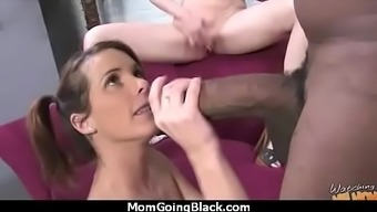 Lovely Sexy Mum Getting Dark colored Incline thirty