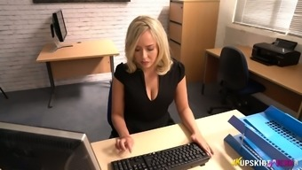 Regularly occupied The english language workplace slut Millie Fenton and her underskirt illustrate