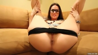 tori black models a leather covered tub chair pants