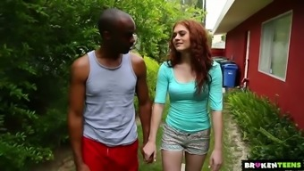 Whitish bright blond Alice Ecological goes interracial right open air to actually be fucked well