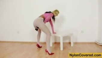 Lexi is most desirable warm love that often loves nylon