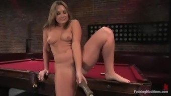Mean Flower Tucci gets her succulent vaginal canal packed by a system