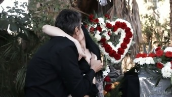 Widower fucks mean and sexual intercourse starving Marley Brinx directly at the funeral
