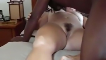 Surpassing bloke fucks my cuckold wife missionary and breeds her