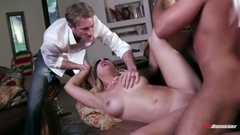 plus size black babe by using natural tits gets blindfolded after that drilled dedicated