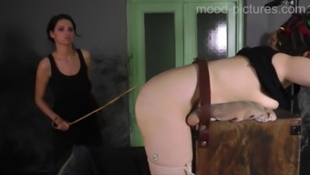 Involved missy needs to whisper even though lady friend punishes her booty