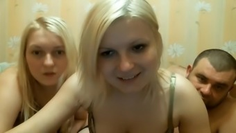 Sizzling threesome upon the webcam show