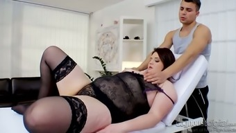 Kinky heavy BBW in sexy lingerie Don Diego gets her twat fingerfucked