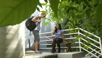 Sex-crazy Asian chick is eager for big white dick of her neighbor