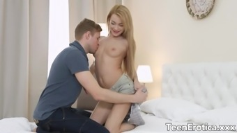 Tiny Teen Sonya Sweet Gets Her Tight Pussy Stretched Wide