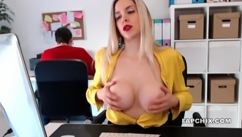 Blonde Plays With Her Hot Body