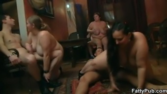 Hot plump group sex orgy in various positions