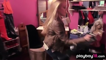 Kate Quigley learning how to spank a tied dudes ass