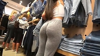 Teen Voyeur - Stacked PAWG Momma's Girl in Sweatpants