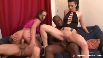 Bisexual foursome with Adele Sunshine gives the best orgasm ever