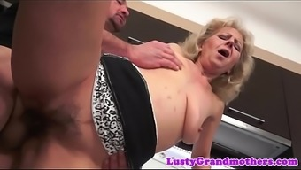 Gran jizzed on hairypussy after sexual intercourse